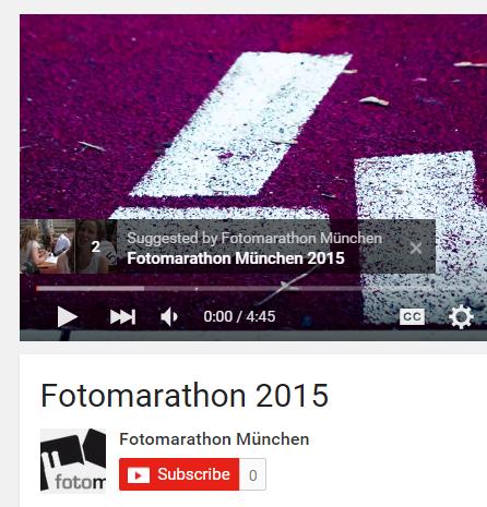 Fotomarathon München 2015: Impressionen