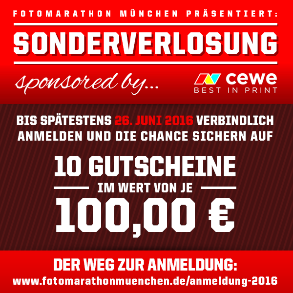 SONDERVERLOSUNG – sponsored by CEWE